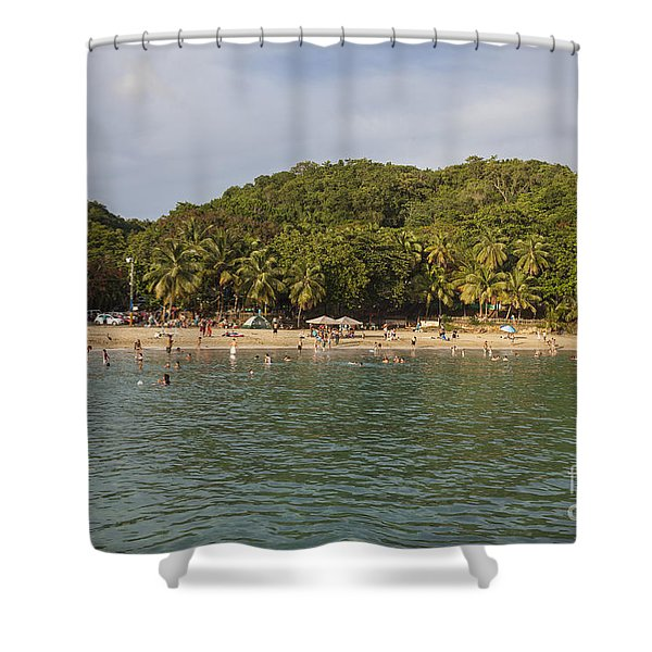 Shower Curtain featuring the photograph Crash Boat Beach In Puerto Rico by Bryan Mullennix