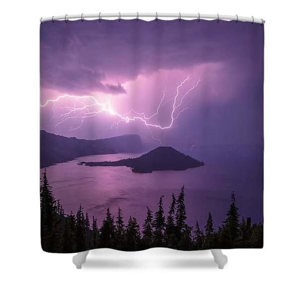Crater Storm Shower Curtain