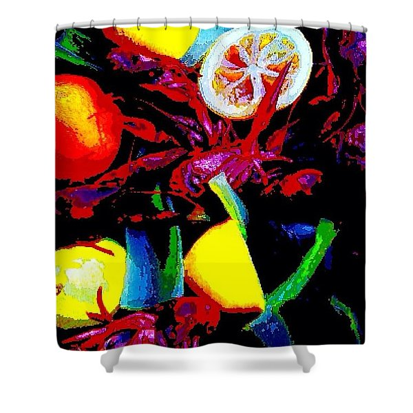 Craw Daddies  Shower Curtain