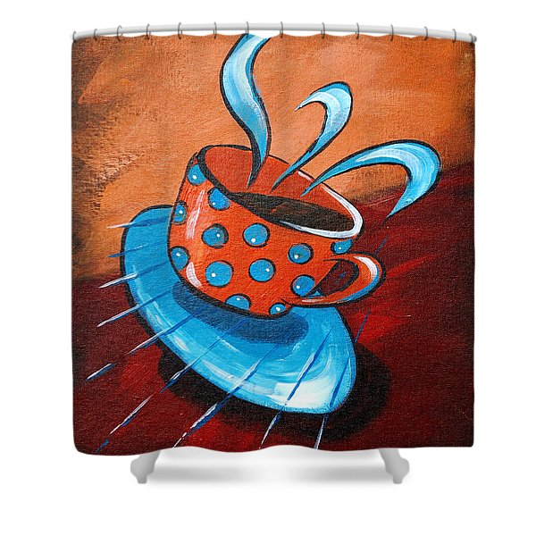 Crazy Coffee Shower Curtain