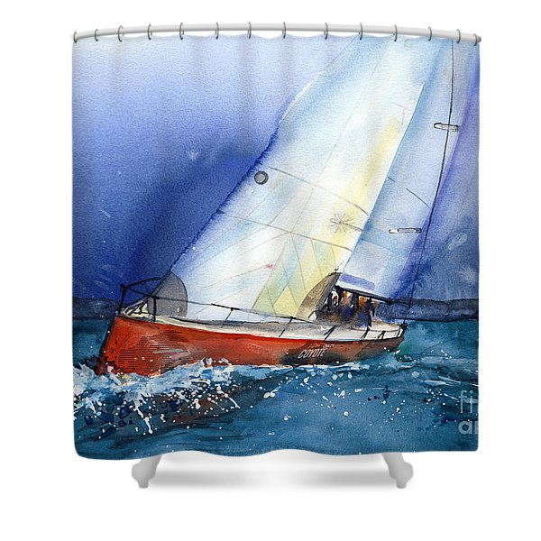Crazy Coyote - Sailboat Shower Curtain