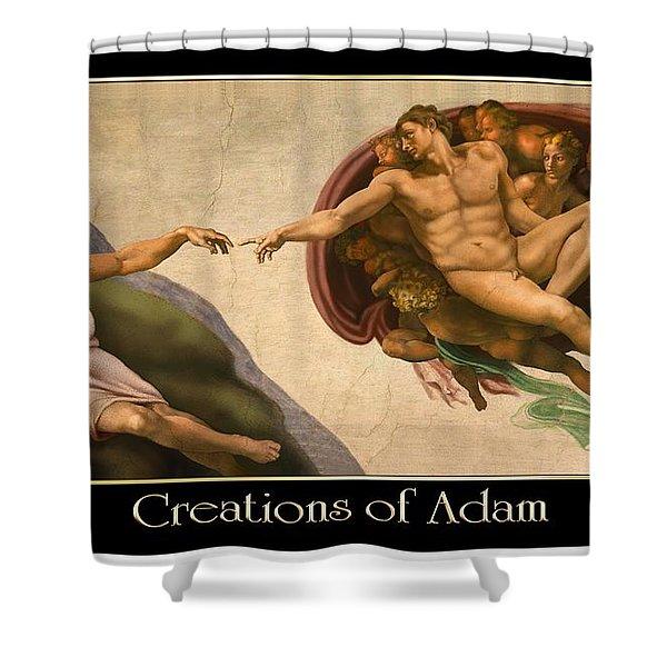Creations Of Adam Shower Curtain