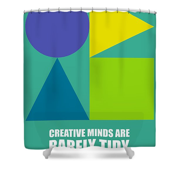 Creative Minds Poster Shower Curtain