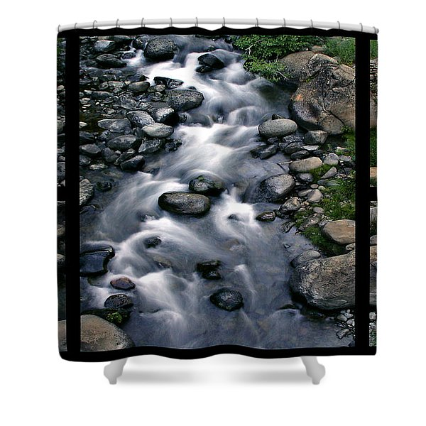 Creek Flow Polyptych Shower Curtain
