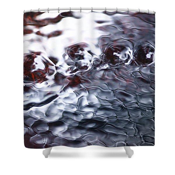 Creek Twirls Abstract Macro Shower Curtain