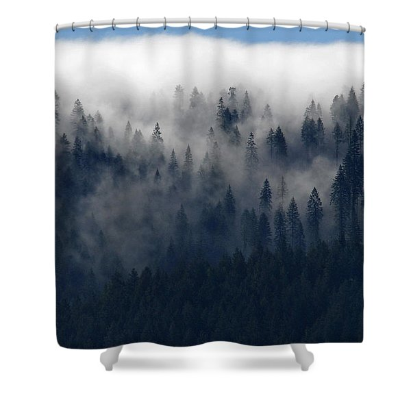 Creeping Clouds Shower Curtain