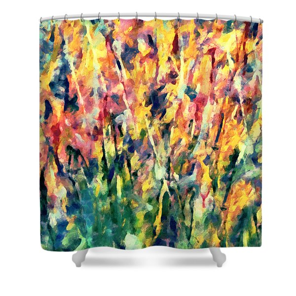 Crescendo Of Spring Abstract Shower Curtain