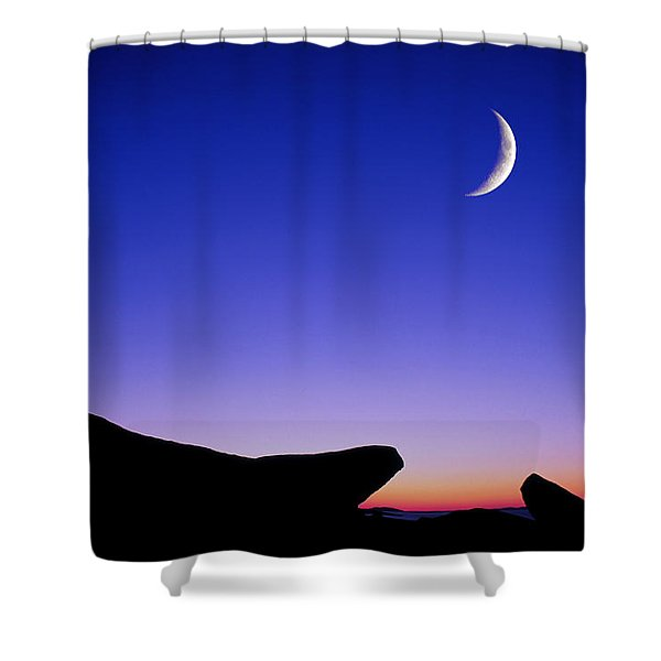 Crescent Moon Halibut Pt. Shower Curtain