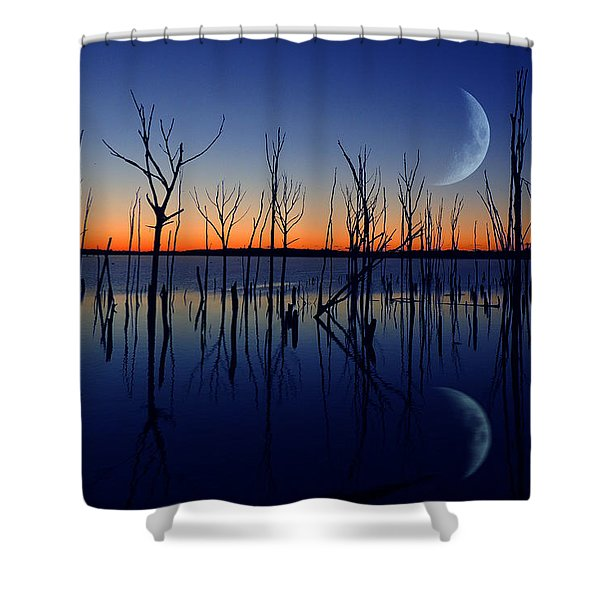 The Crescent Moon Shower Curtain