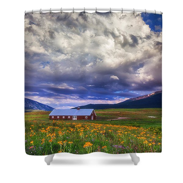 Crested Butte Morning Storm Shower Curtain