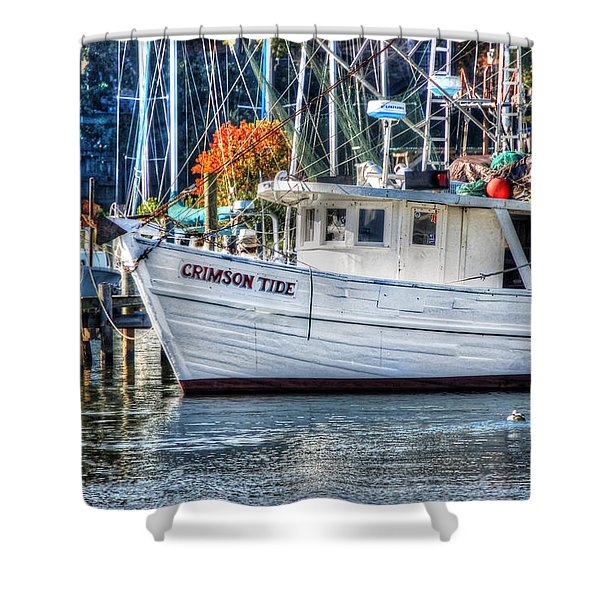 Crimson Tide In Harbor Shower Curtain