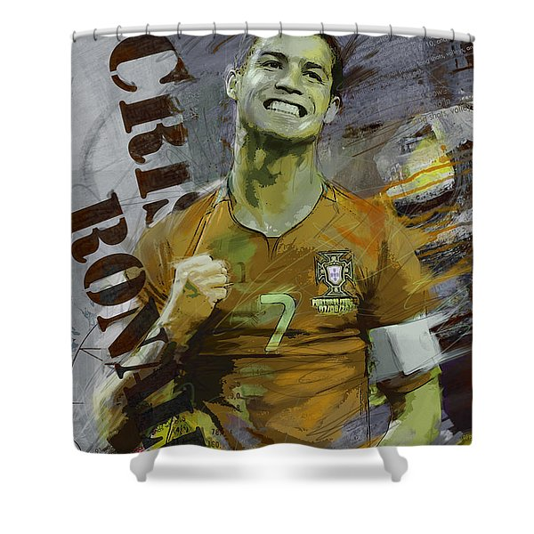 Cristiano Ronaldo Shower Curtain
