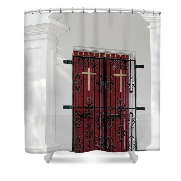 Key West Church Doors Shower Curtain
