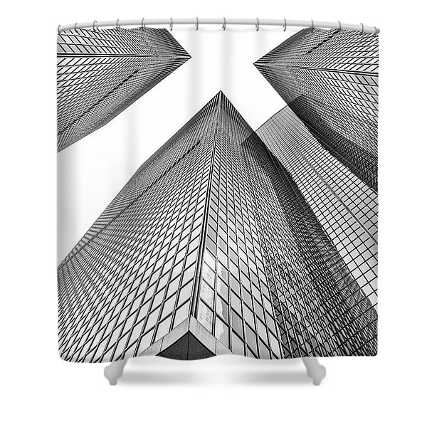 Crossed Shower Curtain