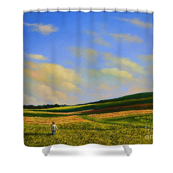 Crossing The Field Shower Curtain