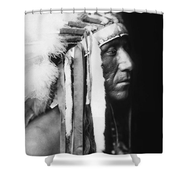 Crow Indian Man Circa 1905 Shower Curtain