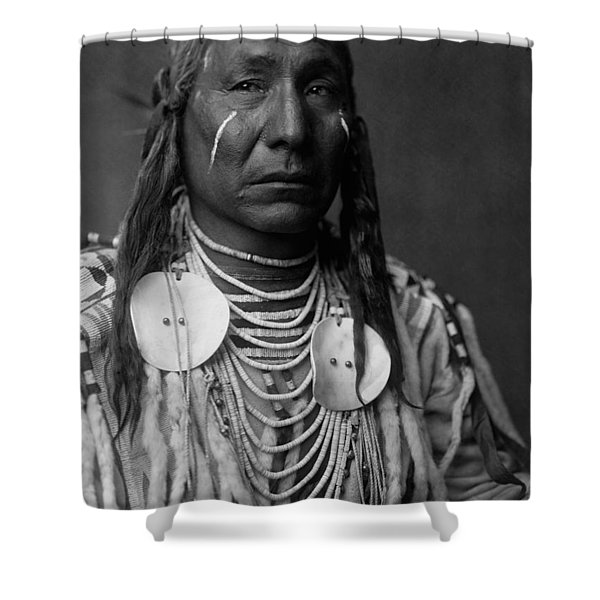 Crow Indian Man Circa 1908 Shower Curtain