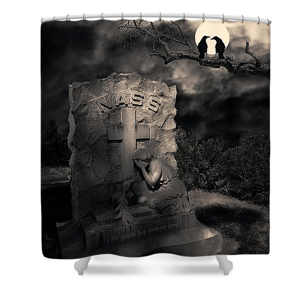 Crows In The Graveyard Shower Curtain