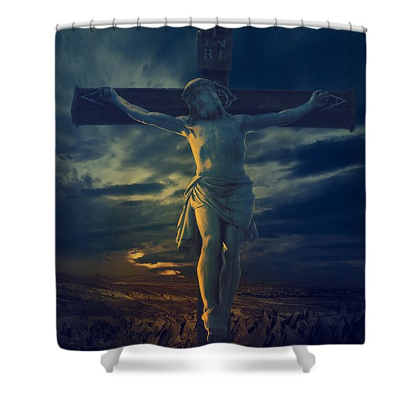 Crucifixcion Shower Curtain