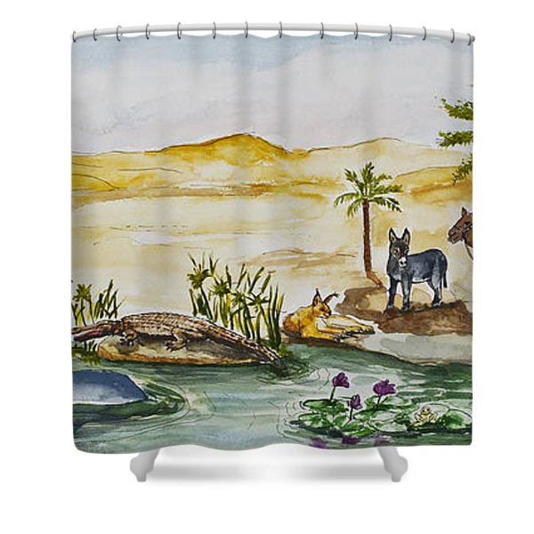 Cruising Along The Nile Shower Curtain