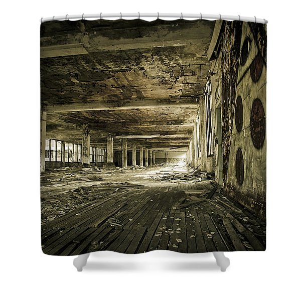 Crumbling History Shower Curtain