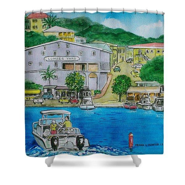 Cruz Bay St. Johns Virgin Islands Shower Curtain
