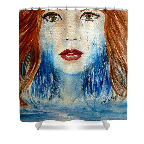 Crying A River Shower Curtain