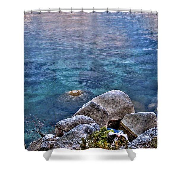 Crystal Clear Sand Harbor Shower Curtain