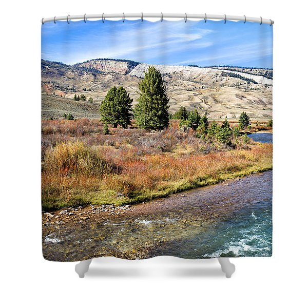 Crystal Creek In The Gros Ventre Shower Curtain