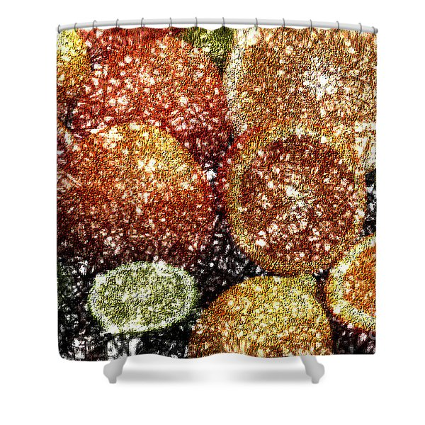 Crystal Grapefruit Shower Curtain