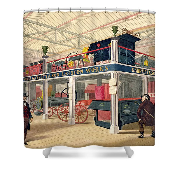 Crystal Palace, The Agricultural Court Shower Curtain