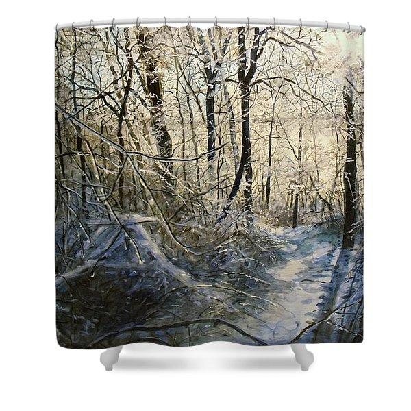 Crystal Path Shower Curtain