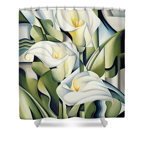 Cubist Lilies Shower Curtain