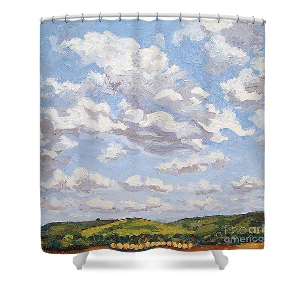 Cumulus Clouds Over Flint Hills Shower Curtain