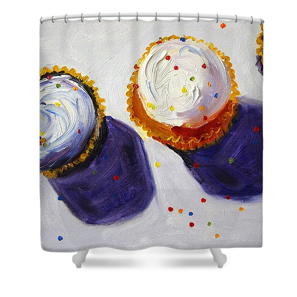 Cupcake Convention Shower Curtain
