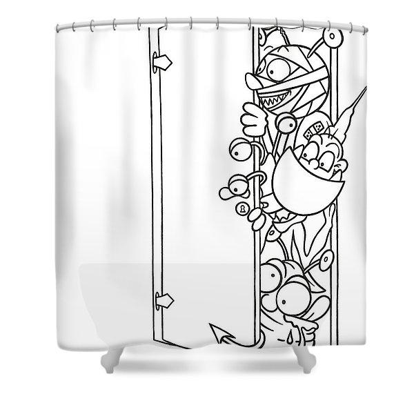 Curious Monster Shower Curtain