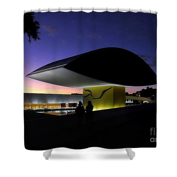 Curitiba - Museu Oscar Niemeyer Shower Curtain