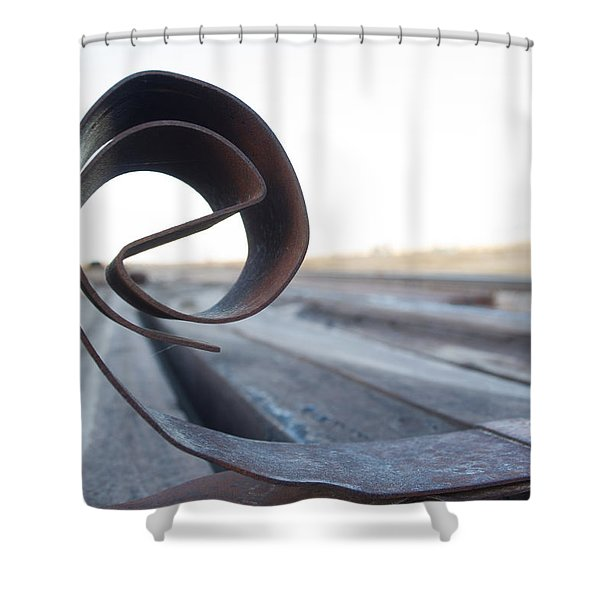 Curled Steel Shower Curtain
