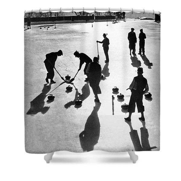 Curling At St. Moritz Shower Curtain