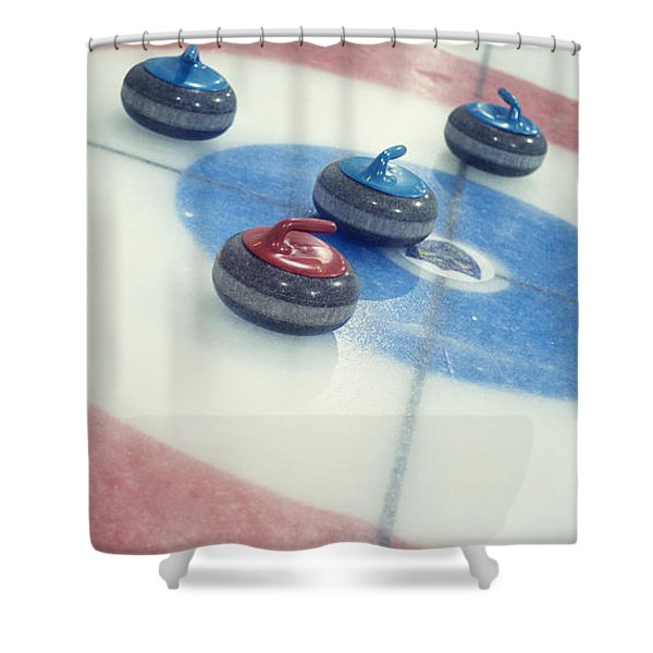 Curling Stones Shower Curtain