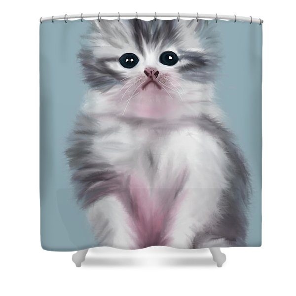 Cute Kitten Shower Curtain