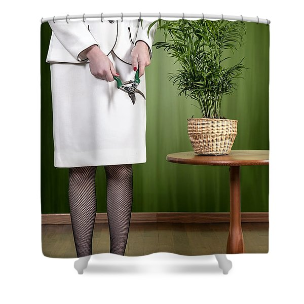 Cutting Plant Shower Curtain