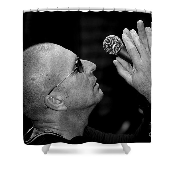 Cy Curnin The Fixx By Diana Sainz Shower Curtain