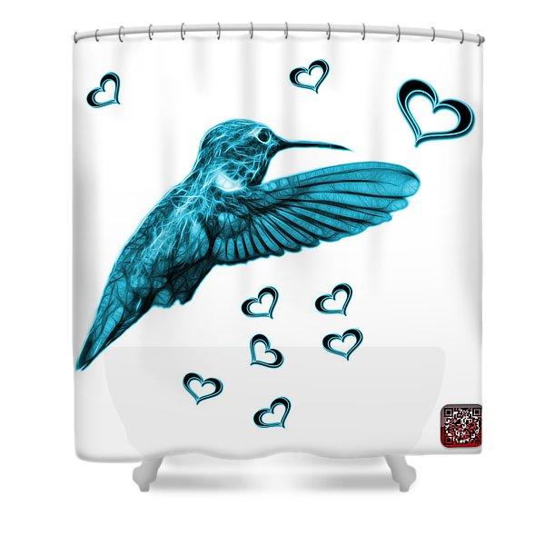 Cyan Hummingbird - 2055 F S M Shower Curtain