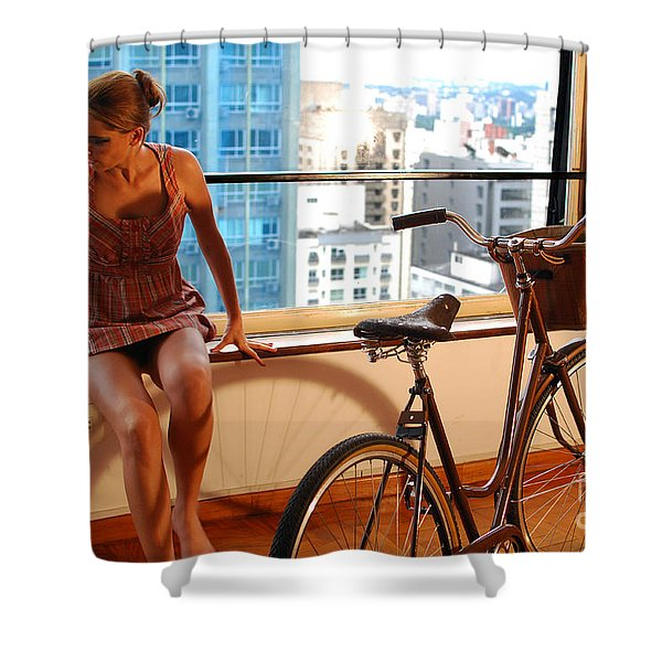 Cycle Introspection Shower Curtain