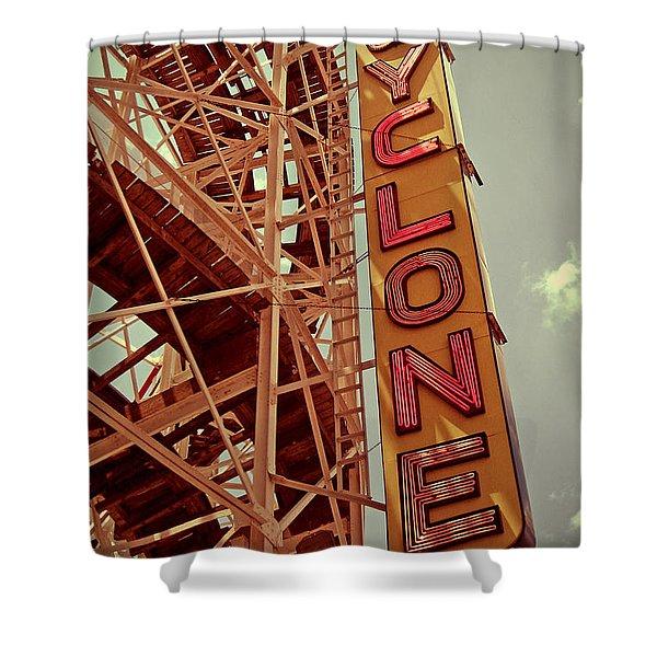 Cyclone Roller Coaster - Coney Island Shower Curtain