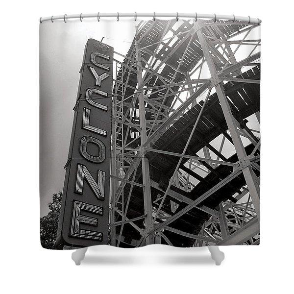 Cyclone Rollercoaster - Coney Island Shower Curtain
