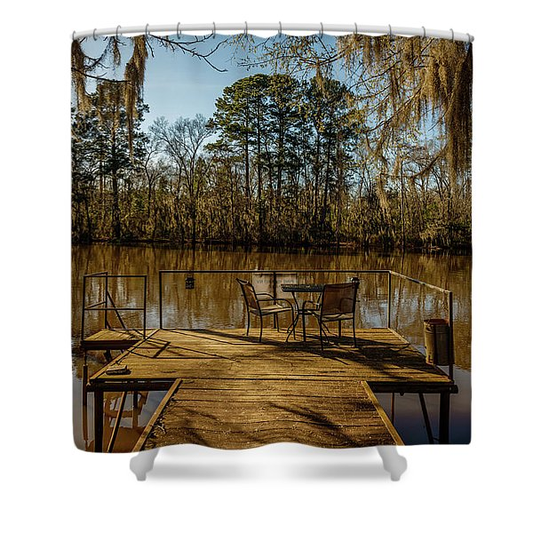 Cypress Trees At Caddo Lake State Park Shower Curtain