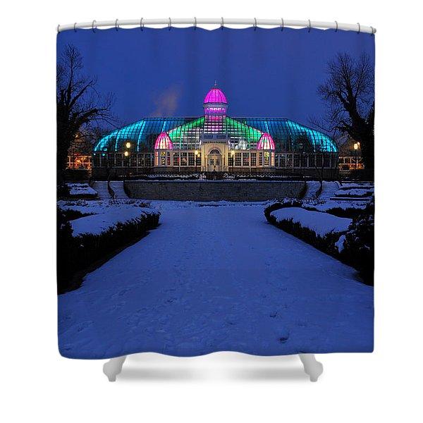 D5l287 Franklin Park Conservatory Photo Shower Curtain