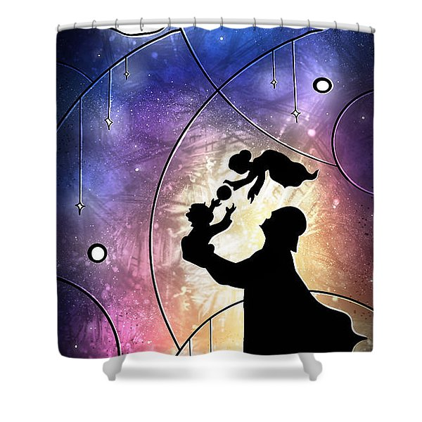 Darth Daddy Shower Curtain